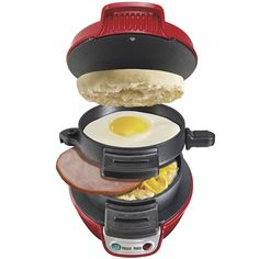 I ordered the Hamilton Beach hot sandwich maker today. I haven't had a hot sandwich since I was a kid but WANT Specialty Appliances, Small Appliances, Kitchen Appliances, Ldr Gifts For Him, Hamburger Maker, Ideas Sándwich, Gift Ideas, Breakfast Sandwich Maker, Electric