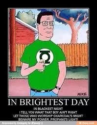 That King of the Hill / Green Lantern mashup Hank Hill Memes, Hollywood Knights, Picture Mix, King Of The Hill, Dark Souls, Dark Horse, Dankest Memes, Funny Jokes, Fun Facts