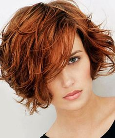 20 short messy bob hairstyles - Layered Bob for Thick Hair - Choppy Bob Hairstyles, Short Hairstyles For Thick Hair, Haircut For Thick Hair, Short Hair With Layers, Curly Hair Styles, Layered Hairstyles, 2015 Hairstyles, Pixie Haircuts, Medium Hairstyles