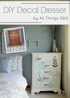 DIY Decal Dresser