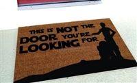 This Is Not The Door You're Looking For Custom Handpainted Fandom Doormat by Killer Doormats, Version 2