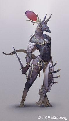 ovopack:  Anubis - rough design