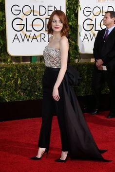 PACTAR CON EL DIABLO POR...: Globos de Oro 2015. Emma Stone de Lanvin