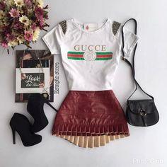T-shirt Gucci | Saia Jaci Vinho    Compras on line:  www.estacaodamodastore.com.br
