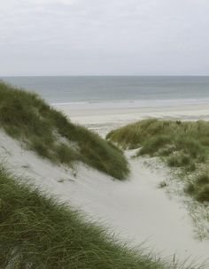 There's nothing like being hidden from the world amidst sand dunes on a beach on a stormy day.