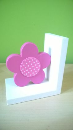 Flower Bookend Kids Bookends Nursery Decor by FusionCraftBySheetal