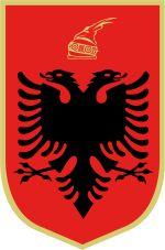 Brasão de armas da Albânia.                            Coat of arms of Albania.