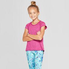 95fb714a5206 Girls  Shine Back Super Soft T-Shirt - C9 Champion Fuchsia Heather L Gender