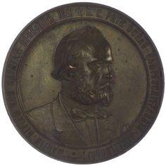 Kaiserreich Österreich. Franz Joseph I. 1848 - 1916 AE Medaille 1877 Bronze Med: A. Scharff. Auf den Direktor der Donau-Dampfschiffahrts-Gesellschaft Martin Ritter von Cassian (*1825, +1906)