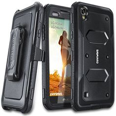 LG Tribute HD / LG X Style, COVRWARE [Aegis Series] with Built-in [Screen Protector] Heavy Duty Full-Body Rugged Holster Armor Case [Belt Swivel Clip][Kickstand], Black