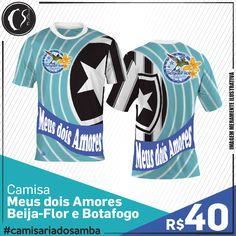 Camisa Meus dois Amores -  Beija-Flor e Botafogo