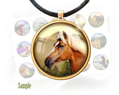 """Horses and mountains - Digital bottle cap images - 1'' circles, 25mm, 30mm, 1.25"""", 1.5"""" for Jewelry Making, BUY 2 GET 1 FREE by BonCraft on Etsy"""