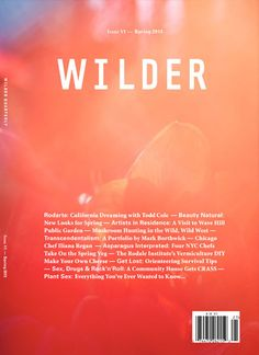 Wilder Quarterly Spring 2013 – issue no. Graphic Design Layouts, Graphic Design Typography, Graphic Design Inspiration, Graphic Artwork, Magazine Cover Design, Print Magazine, Magazine Covers, E Commerce, Editorial Layout