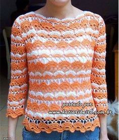 💜💜💜 loving this model that more charming crochet blouse, I found this pattern very delicate to see step by step Crochet Blouse, Crochet Yarn, Most Beautiful Words, Bolero, Blouse Models, Yarn Store, Model Look, Beautiful Blouses, Blouse Patterns