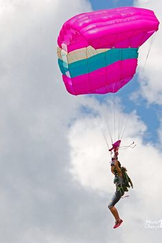 Pink Canopy Skydive Parachute