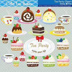 Cakes Clipart Set Cupcakes clip art DIY Tea by CeliaLauDesigns