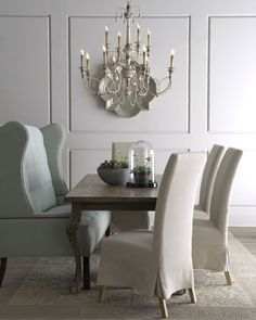 """Haute House """"Liday"""" Dining Table, """"Havana"""" Chairs, & """"Corbin"""" Banquette - Horchow"""
