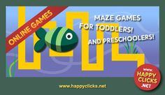 Maze games free online for young children.