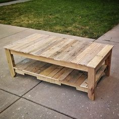 Sunday pallet wood project, built with the Kreg Jig® in less than 6 hours!