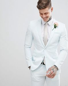 Wonderful Perfect Wedding Dress For The Bride Ideas. Ineffable Perfect Wedding Dress For The Bride Ideas. Wedding Dress Suit, Wedding Tux, Perfect Wedding Dress, Wedding Attire, Wedding Venues, White Tuxedo Wedding, All White Wedding, All White Prom Tux, Baby Blue Suit