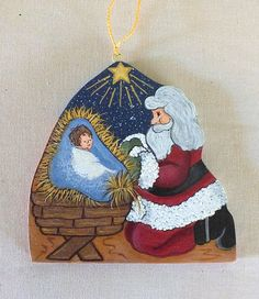 O Come Let Us Adore Him Nativity Christmas by KathysHeartCreations