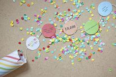 confetti invitations mariage
