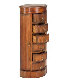 Love this Dark Brown Birch Jewelry Armoire on #zulily! #zulilyfinds  (Would be beautiful painted white with floral prints and hardware.)