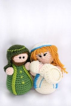 Crochet Pattern Mary Joseph Baby Jesus - in Dutch