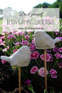 DIY Gartenstecker Vögel Aus Beton In Wenigen Schritten Selber Machen   Süße  Gartendeko