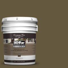 behr premium plus ultra 5 gal ppu7 1 moss stone flat exterior