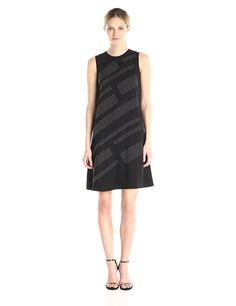 Calvin Klein Women's Studded Shift Dress *** Wow! I love this. Check it out now! : Women's dresses