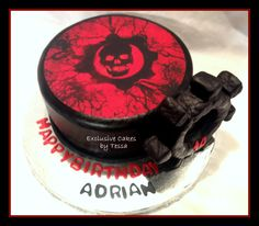 my previous boyfriend's son Adrien's cake look almost exactly like this one year for his birthday :)