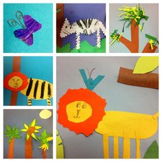 Rousseau paper collages early elementary art lesson project