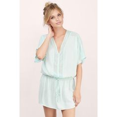 Tobi Around About Tunic Dress (55 AUD) ❤ liked on Polyvore featuring dresses, mint, dolman-sleeve dresses, mint green dress, tobi dresses and mint dress