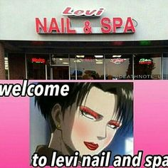 Welcome.<---- Whyyy...<----would you like a pedicure, or just manicure?