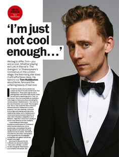 Tom Hiddleston Interview – Time Out Magazine Issue Feb 2014 Tom Hiddleston Interview, Tom Hiddleston Loki, Thor, Time Out Magazine, Thomas William Hiddleston, Chris Hemsworth, Gorgeous Men, Sexy Men, Fangirl