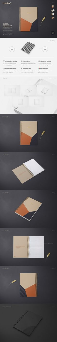 A5 Spiral Notebook Mockup Set #sublimated #mockups #notepad #templates #a6 #fly #identity #broad #a2 #shop #zazzle #contemporary #hipster #etsy #digital #psd #mock-up #center #iridescentbook Berlin Art, Notebook, Mockup Templates, A5, Iridescent, Spiral, London, Printed, Natural