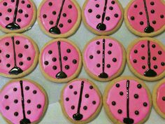 lady bug sugar cookies with royal icing