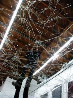 Shatter glass mid air breaking the glass pinterest shattered glass art boards and dark art for Shattered mirror bathroom floor