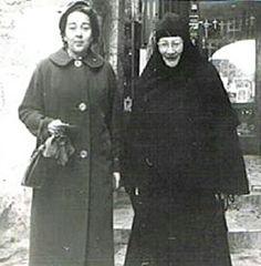 "Princess Irina S. Bagration-Mokransky with her mother-in-law,Mother Tamara....the Princess Tatiana Konstantinovna Romanova of Russia. ""AL"""