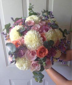 CBR187 Riviera Maya weddings / BodasBouquet  lilac , coral and grey