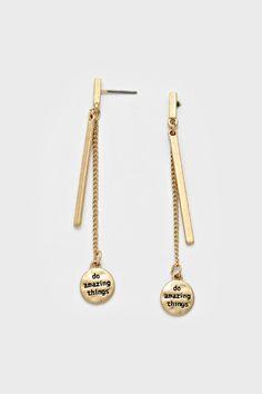 Do Amazing Things Earrings ==