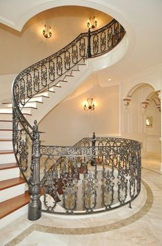 Real Housewives Of New Jersey Star Melissa Gorga Lists Her Massive Mansion… Wrought Iron Stairs, Wrought Iron Decor, Beautiful Interiors, Beautiful Homes, Entry Foyer, Real Housewives, Big Houses, Housewife, My Dream Home