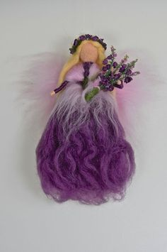 STOCKROSEN - FEE  ELFE  Jahreszeitentisch  Märchenwolle