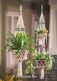 I made plenty of these macrame plant hangers in the mid to late 70s.  I need to macrame again!