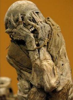 Distressed mummy.