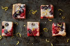 Meyer Lemon Berry Squares
