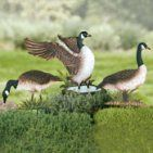 Metal Geese Yard Stake Decorations - Set of 3