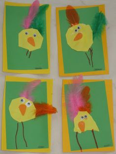 handprint chick puppets spring crafts and learning for kids