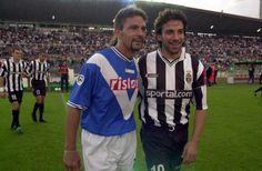 Roberto Baggio and Alessandro Del Piero, 2000/01.